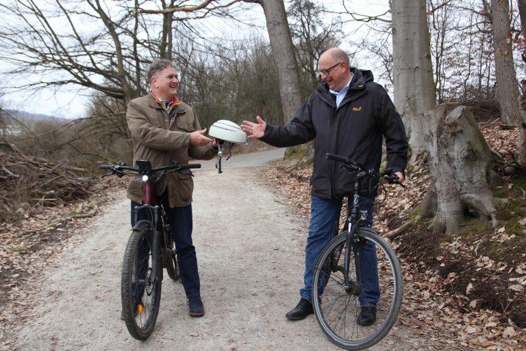Zwei Bürgermeister, ein Hobby: Radfahren.