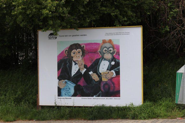 """""""Snobs in Oberursel"""" von Christine Steden (Ateliergemeinschaft Biclamo)."""