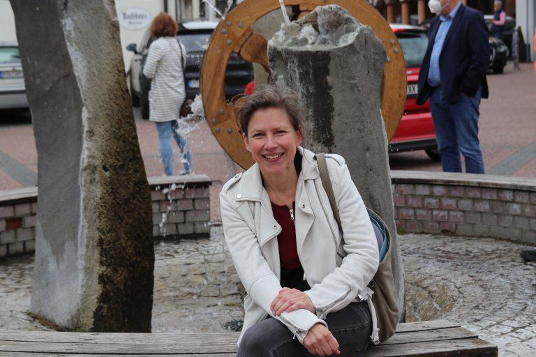 Vor über 20 Jahren hat Claudia Pense den Münsterer Brunnen geschaffen.