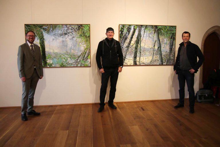 Gregor Maier, Fachbereichsleiter Kultur im HTK, Peter Braunholz und Journalist Christoph Schütte.