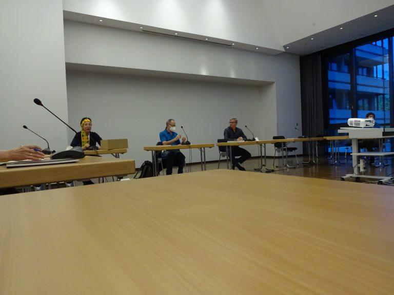 Dr. Astrid Scheid, Herbert Fischer und Ralf Dingeldein.