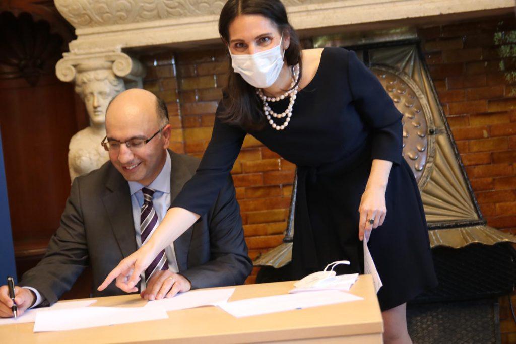 Arthur Iliyav und Dr. Orna von Fürstenberg