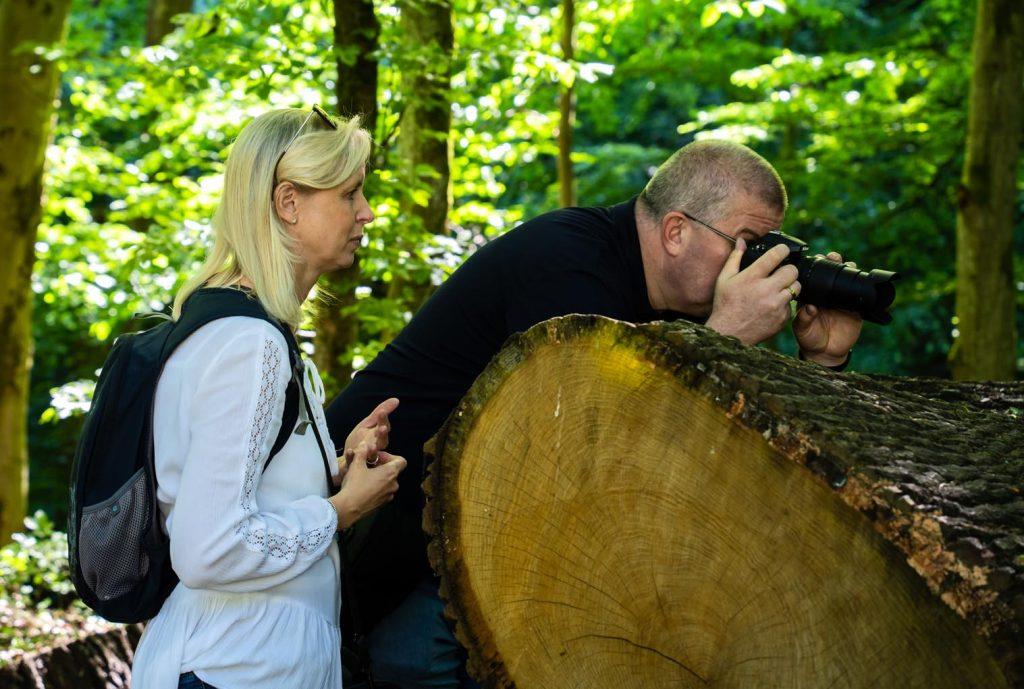 Der Fotospaziergang mit dem Photo-Cirkel eröffnet so manche neue Perspektive. Foto: Günter Albrecht