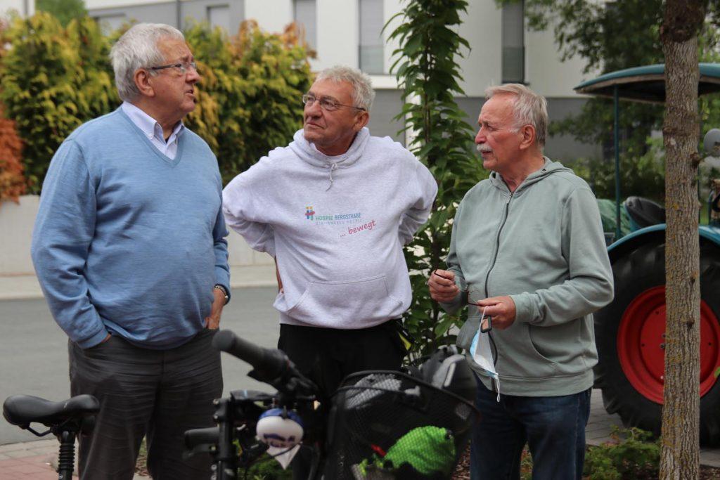 Werner Reinke, Gunter Lutzi und Hanomag-Fahrer Horst Dörr.