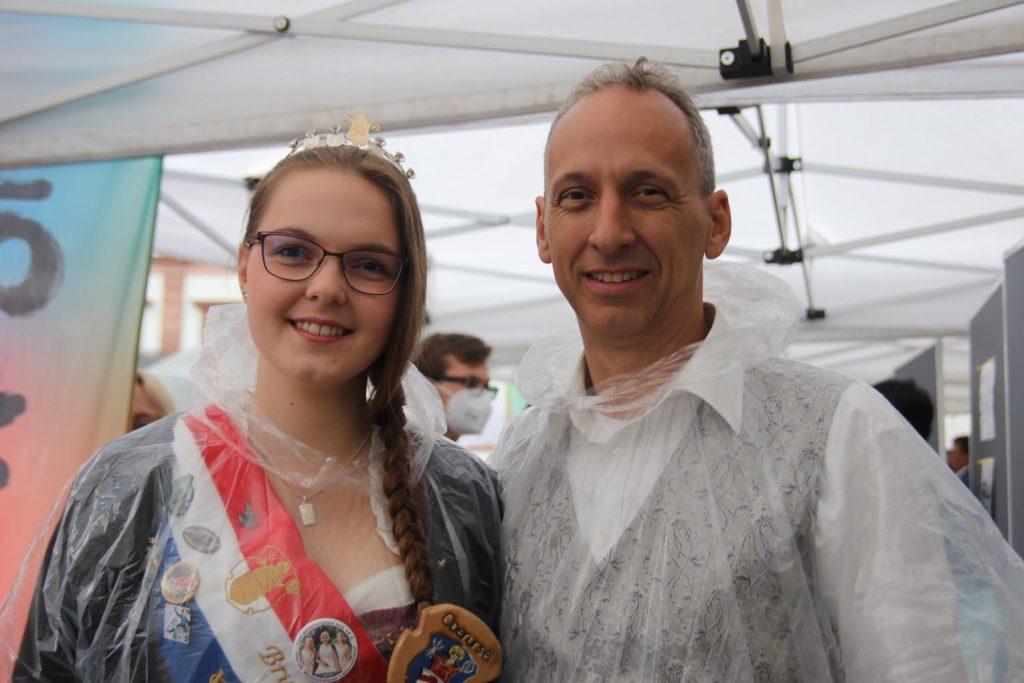 Brunnenkönigin Verena I. und Brunnenmeister Andreas.