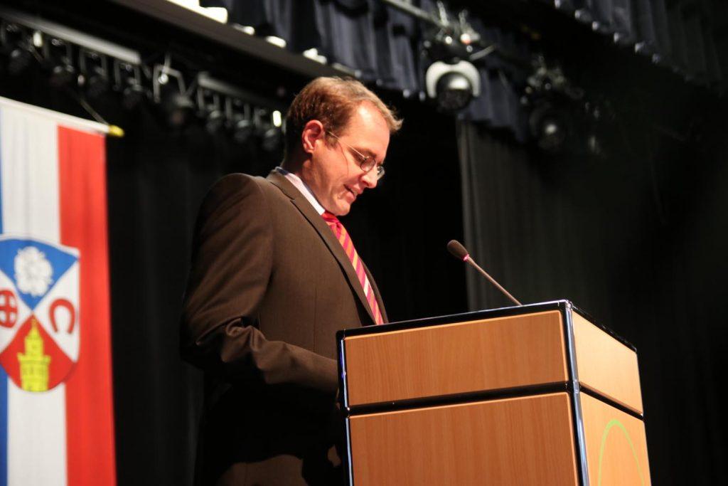 Dr. David Rauber, Geschäftsführer des Hessischen Städte- und Gemeindebundes.