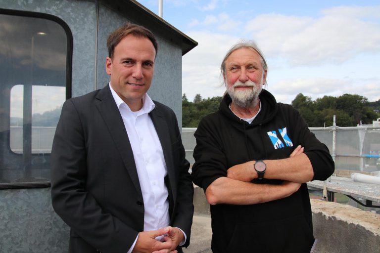 Bürgermeister Alexander Simon und Dr. Joachim Zeune.
