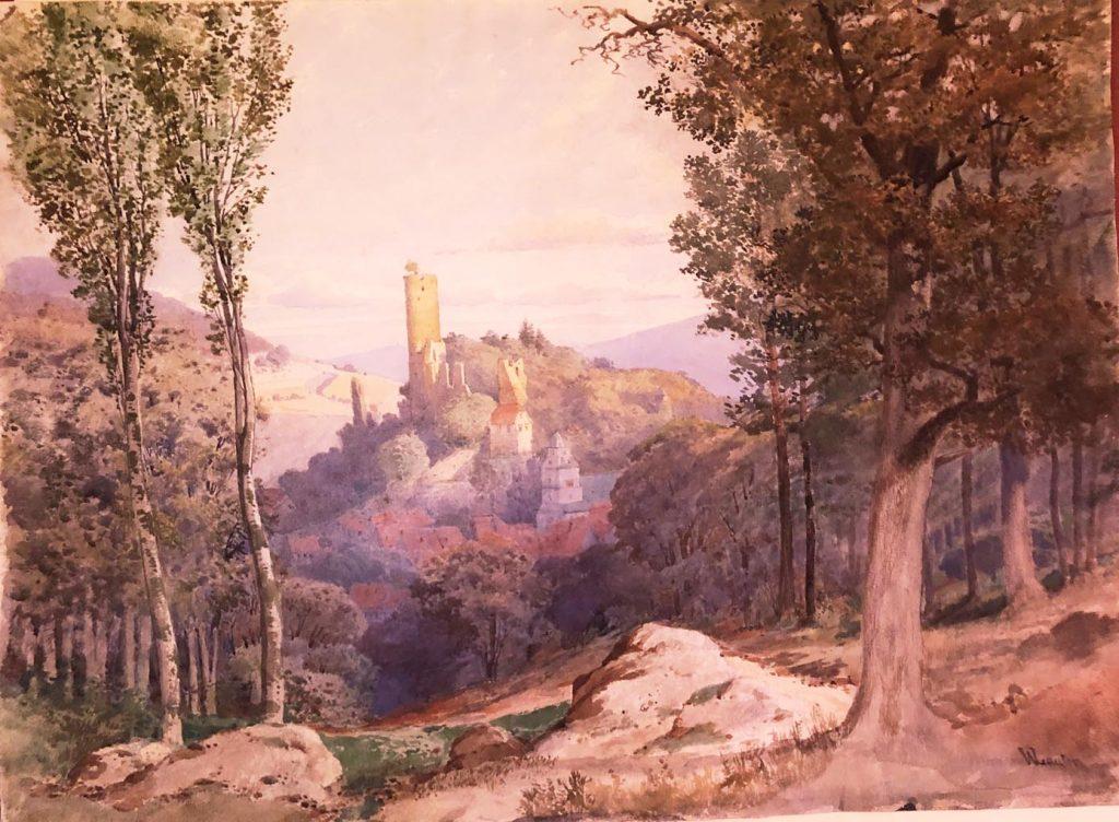 Ein Gemälde von Wilhelm A. Lauter um 1872, das genau diese Perspektive zeigt. - Foto: Stadt- und Burgmuseum Eppstein