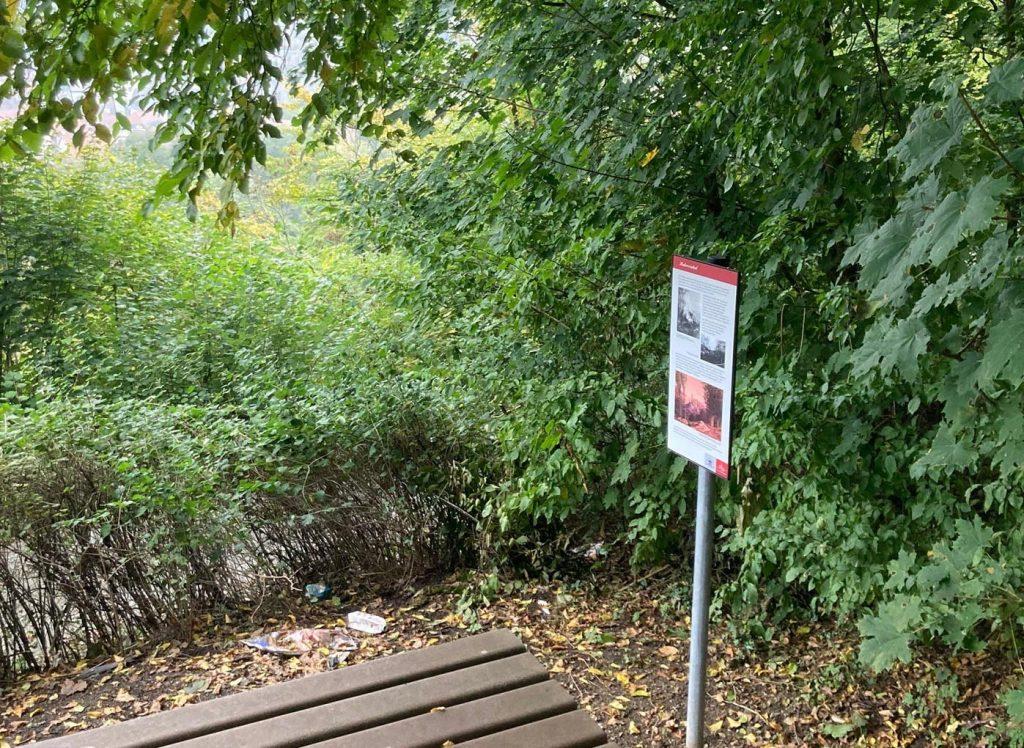 Die neue Info-Tafel. - Foto: Stadt- und Burgmuseum Eppstein